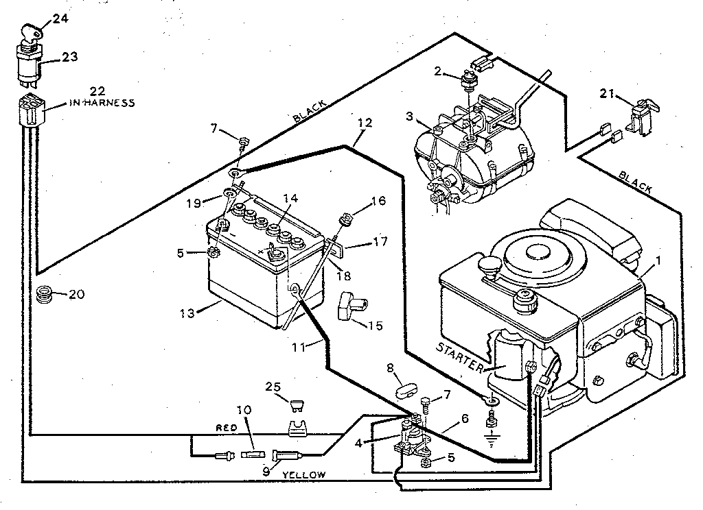 murray riding lawn mower electrical schematic