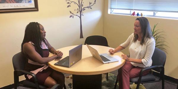Dr. Sascha Longstreth with Dr. Idara Essien.