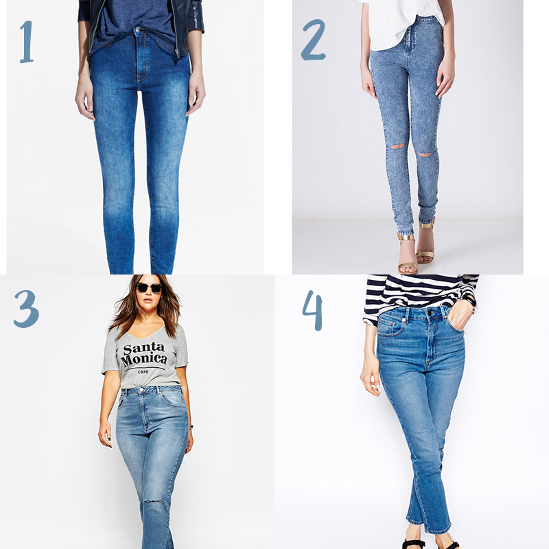 Jeans Tiro Alto Para Gorditas