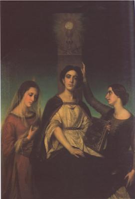 La Foi, l'Espérance et la Charité (1857), Sophie Rude