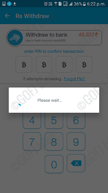 Zebpay Bitcoin withdrawal process