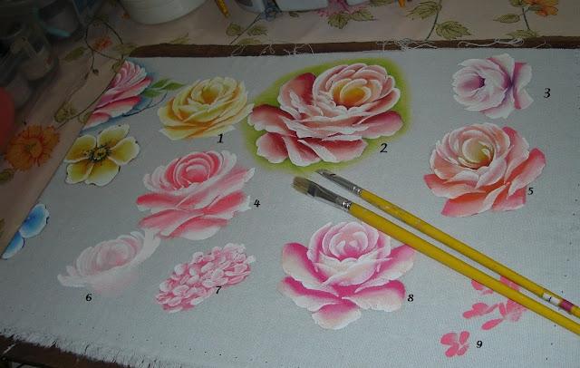 pintura em tecido rosas passo a passo