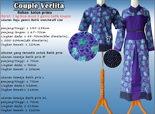 Model gamis batik couple muslim modern gaya terbaru harga murah