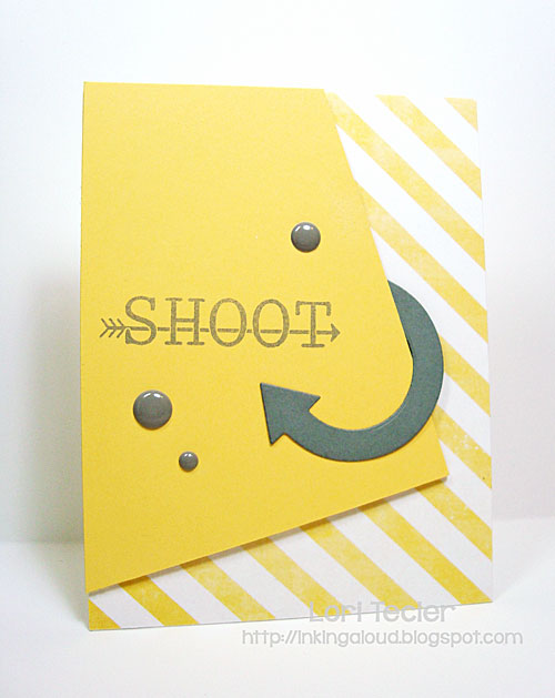 Shoot card-designed by Lori Tecler/Inking Aloud-stamps and dies from Avery Elle