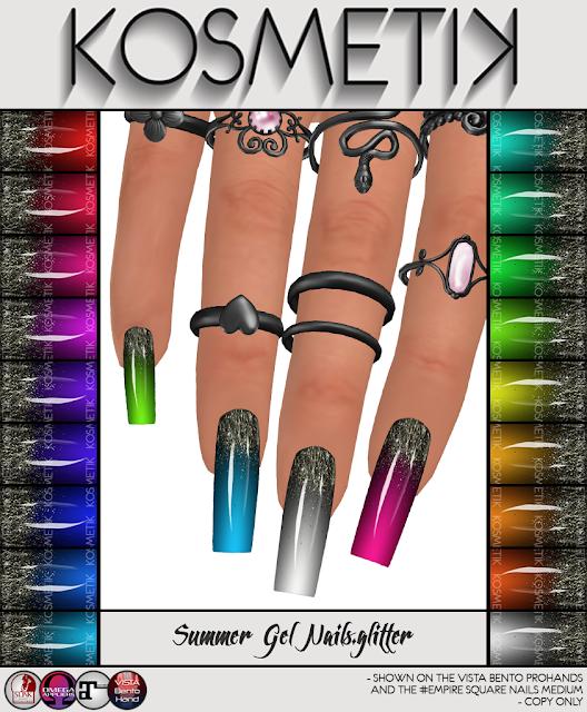 .kosmetik NEW Summer Gel Nails.glitter