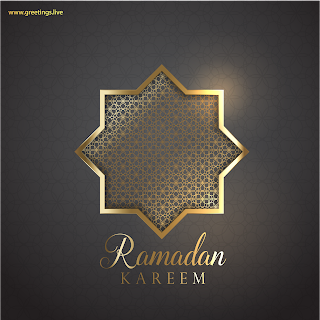 Ramadan Festival images with Ramadan Kareem Golden Sparkling Light Background