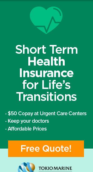 California Short Term Health Insurance Reminder