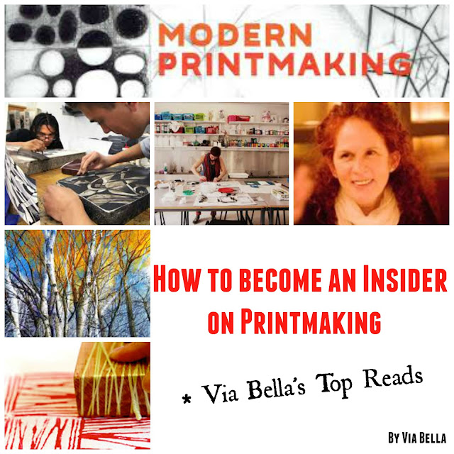 modern printmaking, book review, art, printmaking, sylvie covey, Via Bella's Top Reads