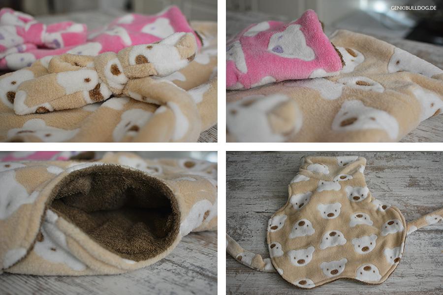 Bademantel für Hunde Hundebademantel Französische Bulldogge Trocknen baden
