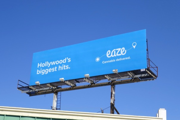 Hollywoods biggest hits Eaze billboard