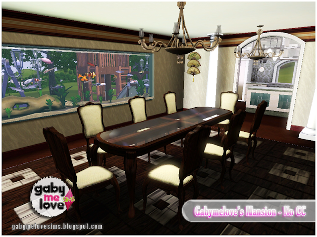 Gabymelove's Mansion |NO CC| ~ Lote Residencial, Sims 3. Comedor.