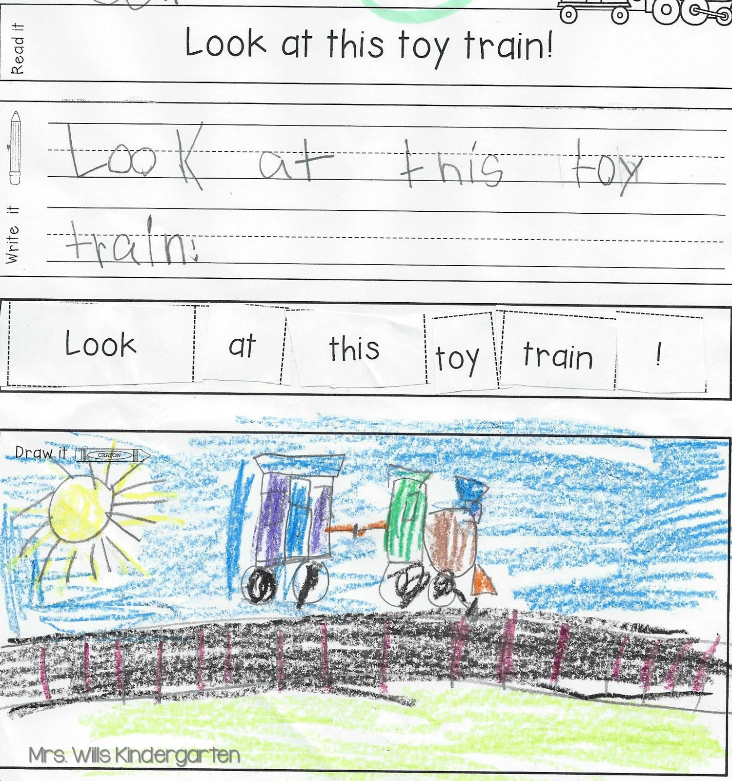Kindergarten Sentence Writing Stations