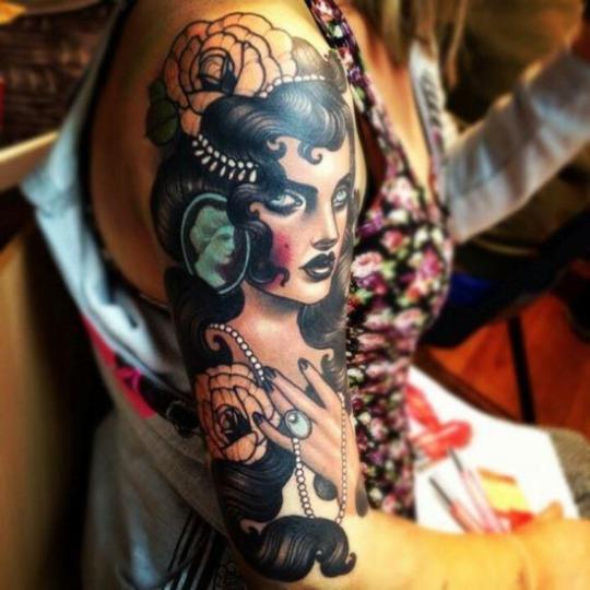 Beautiful Sleeve Hand Gypsy Tattoo For Girls