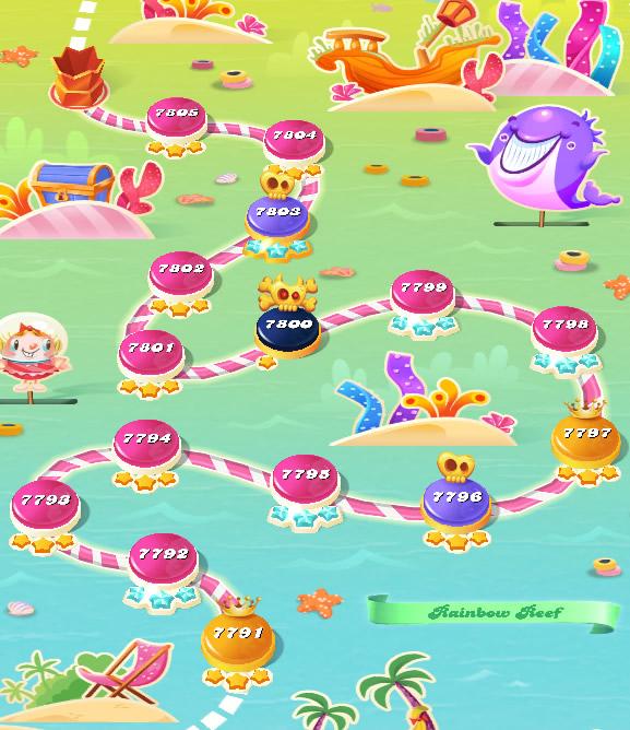 Candy Crush Saga level 7791-7805
