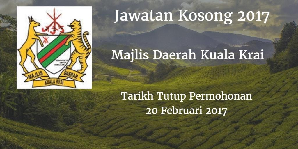 Jawatan Kosong Majlis Daerah Kuala Krai 20 Februari 2017