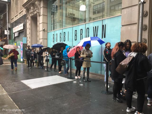 Bobbi Brown sample sale long lines