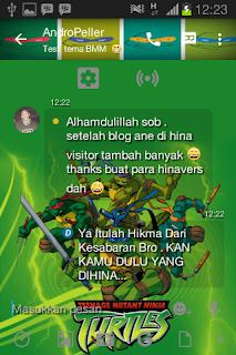 BBM MOD Tema Ninja Turtle [Kura-Kura Nijua] v3.0.0.18 Apk Terbaru