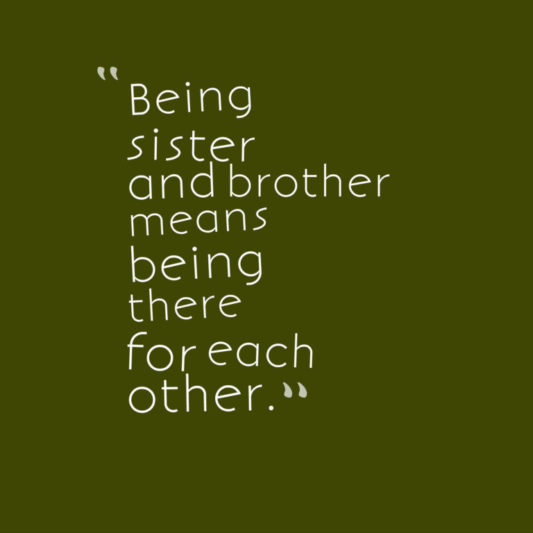 being a sister quotes