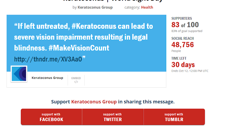 Help to Spread Keratoconus Awareness on World Sight Day