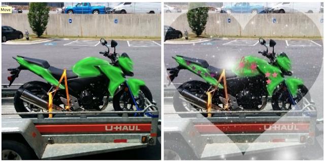Photoshopped motorcycle