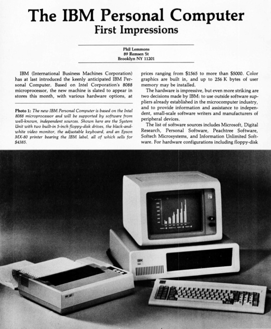IBM 5150 PC review