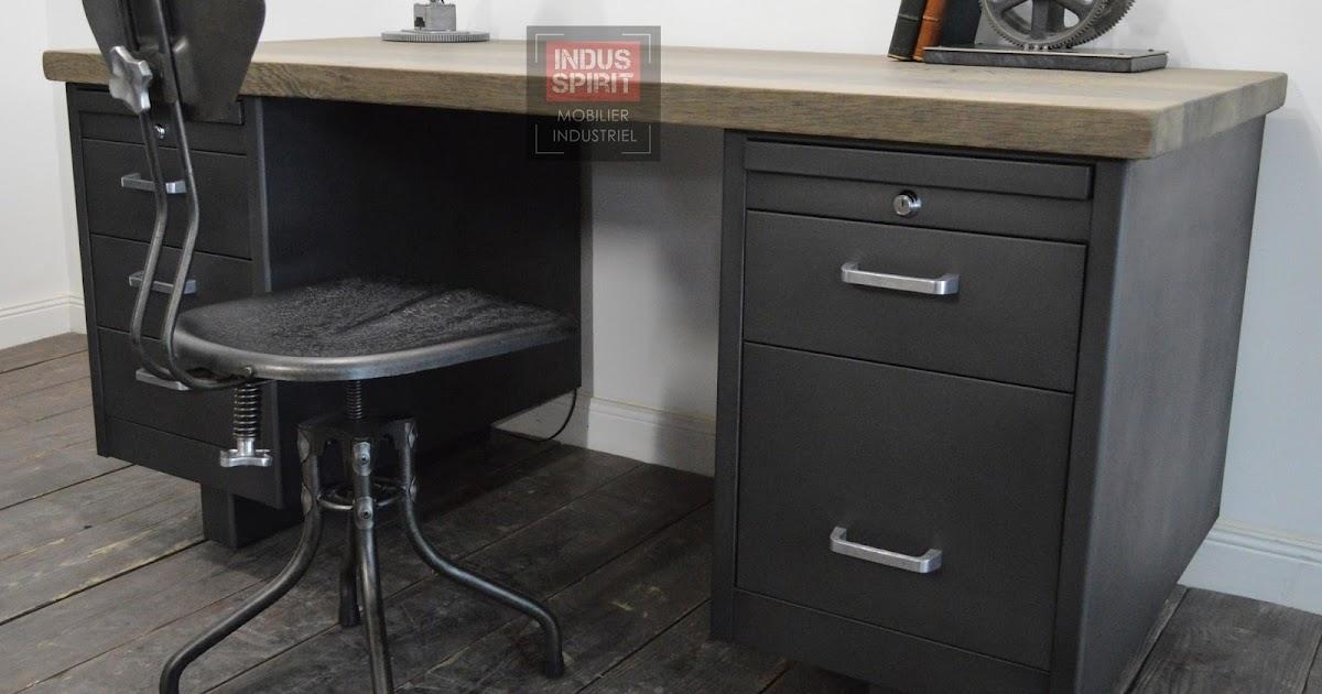 bureau vintage strafor. Black Bedroom Furniture Sets. Home Design Ideas