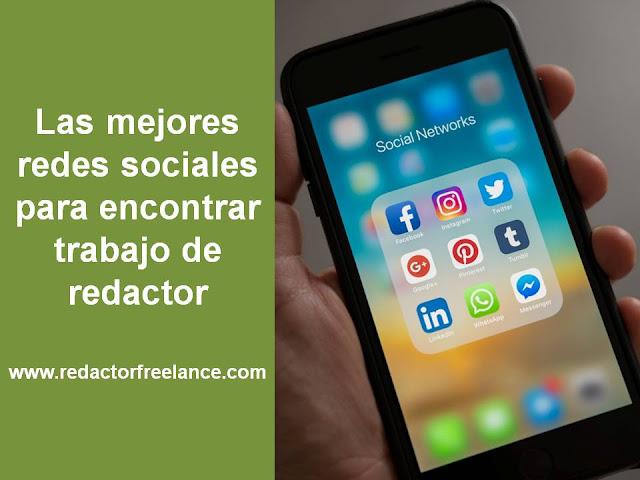 Las mejores redes sociales para encontrar trabajo de redactor