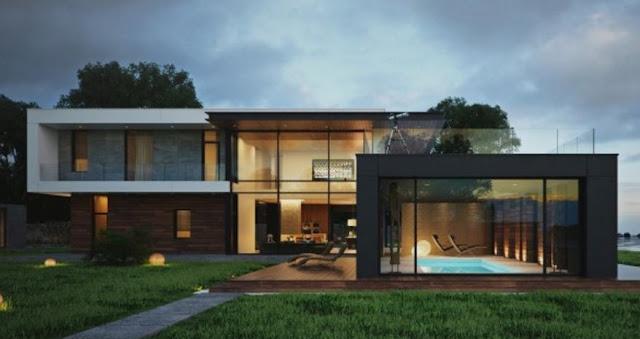 Contoh 40 Desain Eksterior Rumah Modern Minimalis
