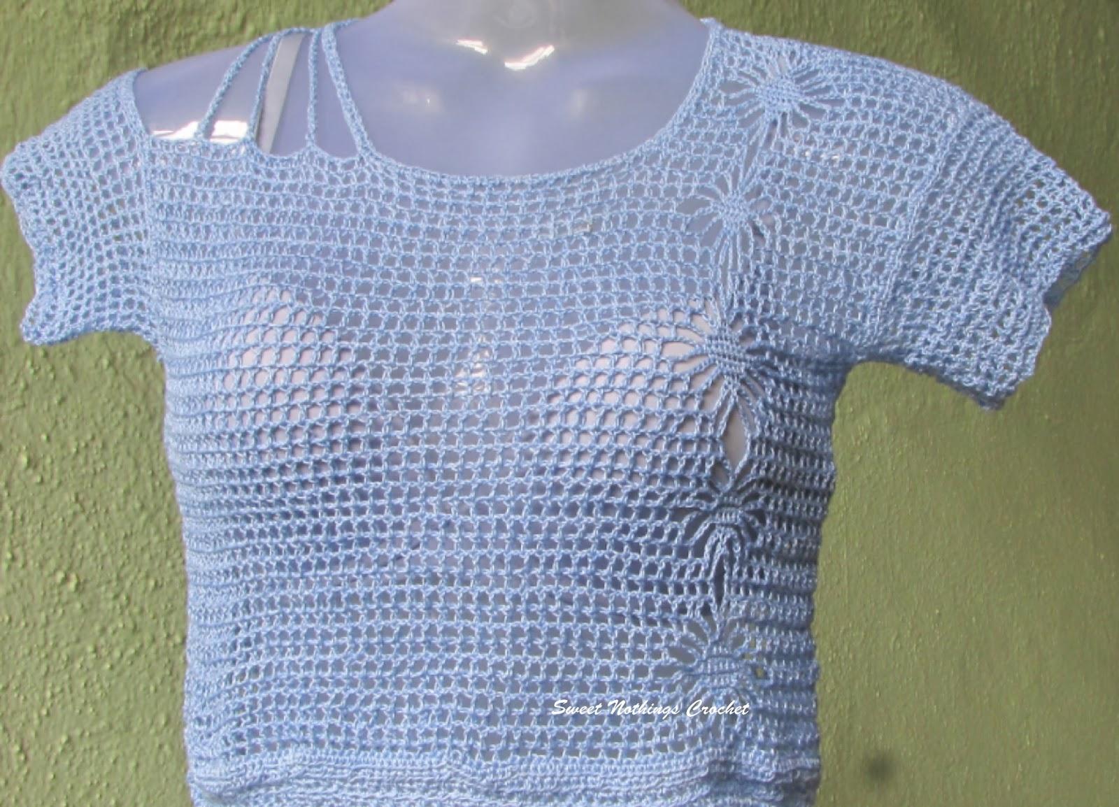 bc6319689788b Sweet Nothings Crochet  LATTICED CROP TOP
