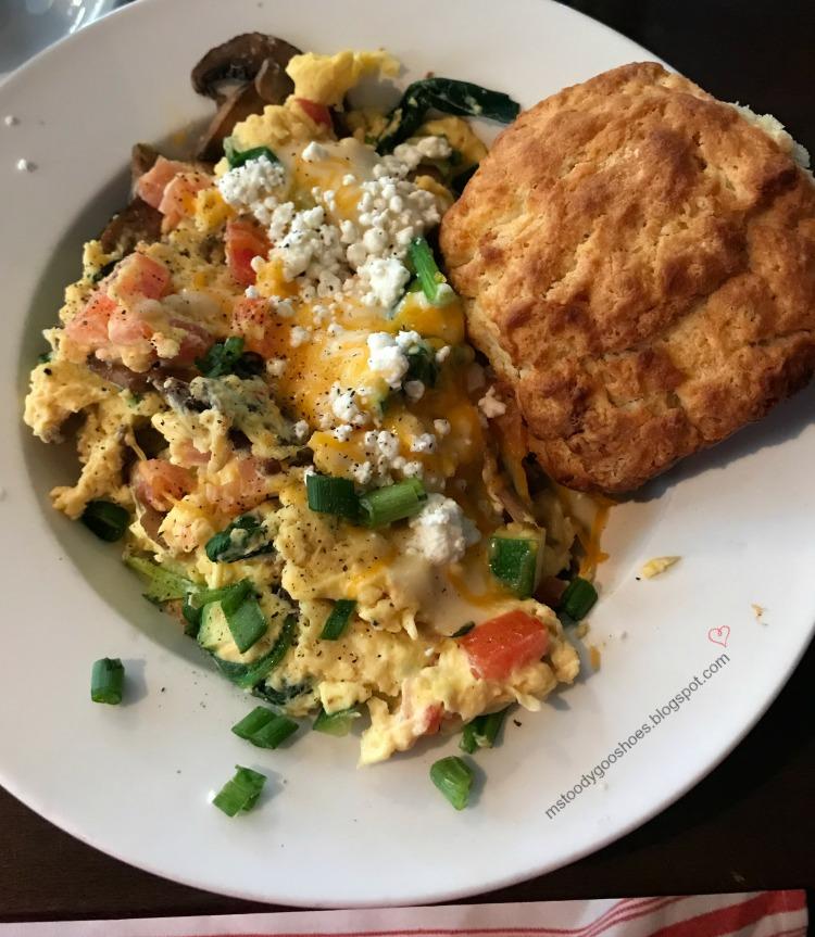 Great breakfast at Matthew B's  In Savannah, GA - a great restaurant!   Ms. Toody Goo Shoes