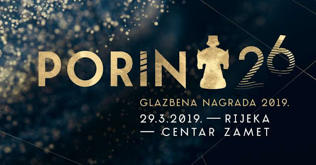 26. Glazbena nagrada Porin | 29. ožujka u Centru Zamet u Rijeci