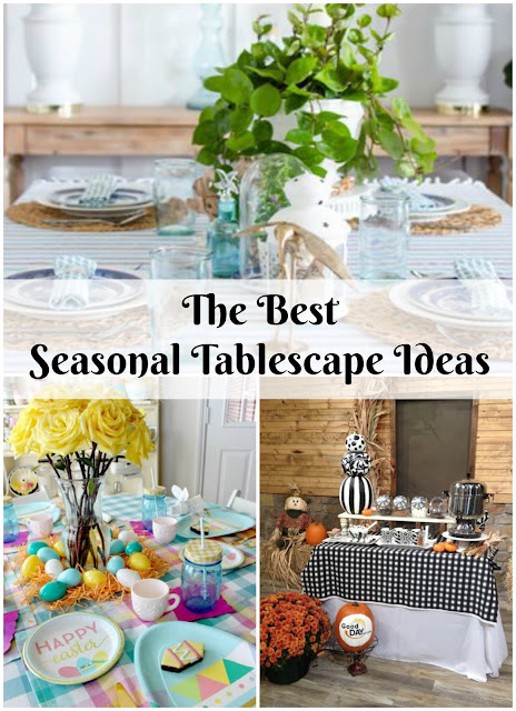 Seasonal tablescape decor