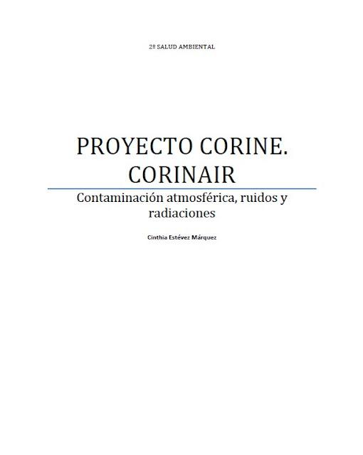 Proyecto Corine. Corinair