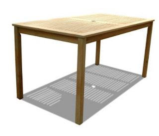 Vifah V1297 Renaissance Outdoor Hand-Scraped Hardwood Rectangular Table