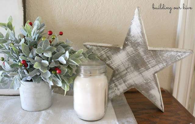 Building Our Hive: Family Room Christmas Mantle
