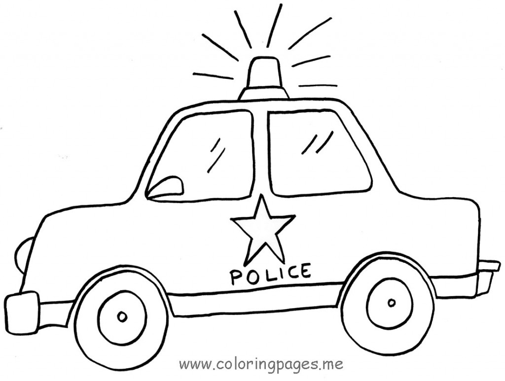D Line Drawings Ikea : Desenhos de carros polícia para colorir