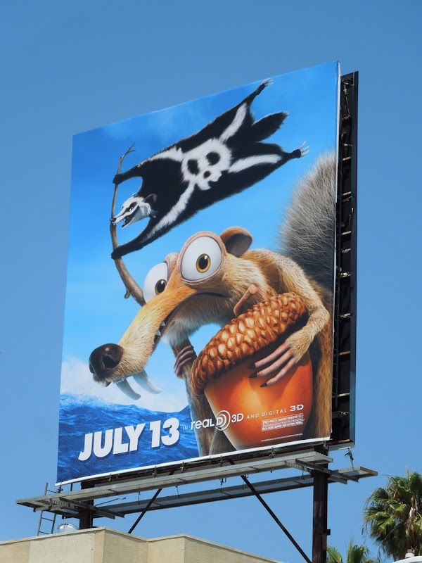 Ice Age 4 Scrat movie billboard