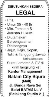 Lowongan Kerja Mall Batam City Square