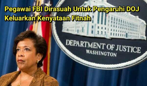 Bakal terbongkar!! Pegawai FBI Dirasuah Untuk Pengaruhi DOJ Keluarkan Kenyataan Fitnah