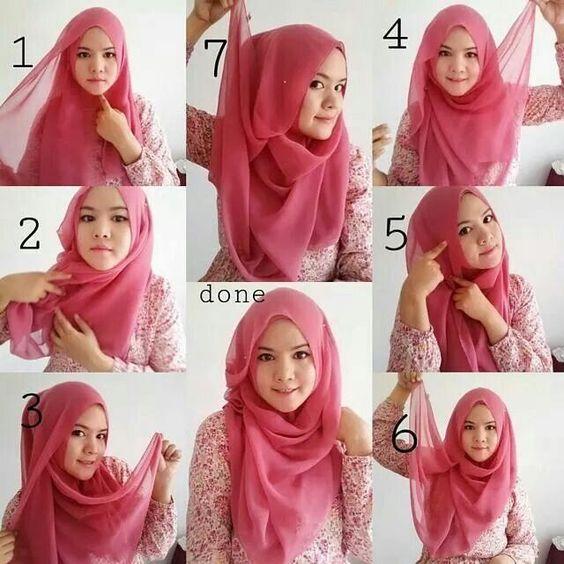 Tutorial Hijab Segi Empat Simple Beauty F