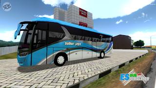 Livery Sinar Jaya Biru ES Bus Simulator ID 2