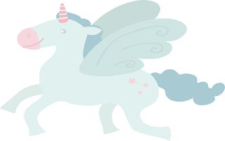 Cavallo alato colorato