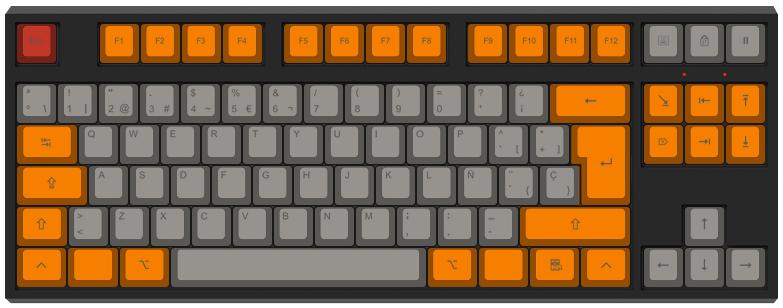 La naranja mecánica - Diseño teclado mecánico - dPunisher