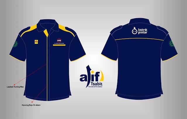 Contoh Desain Baju PDH PLN Lengan Pendek