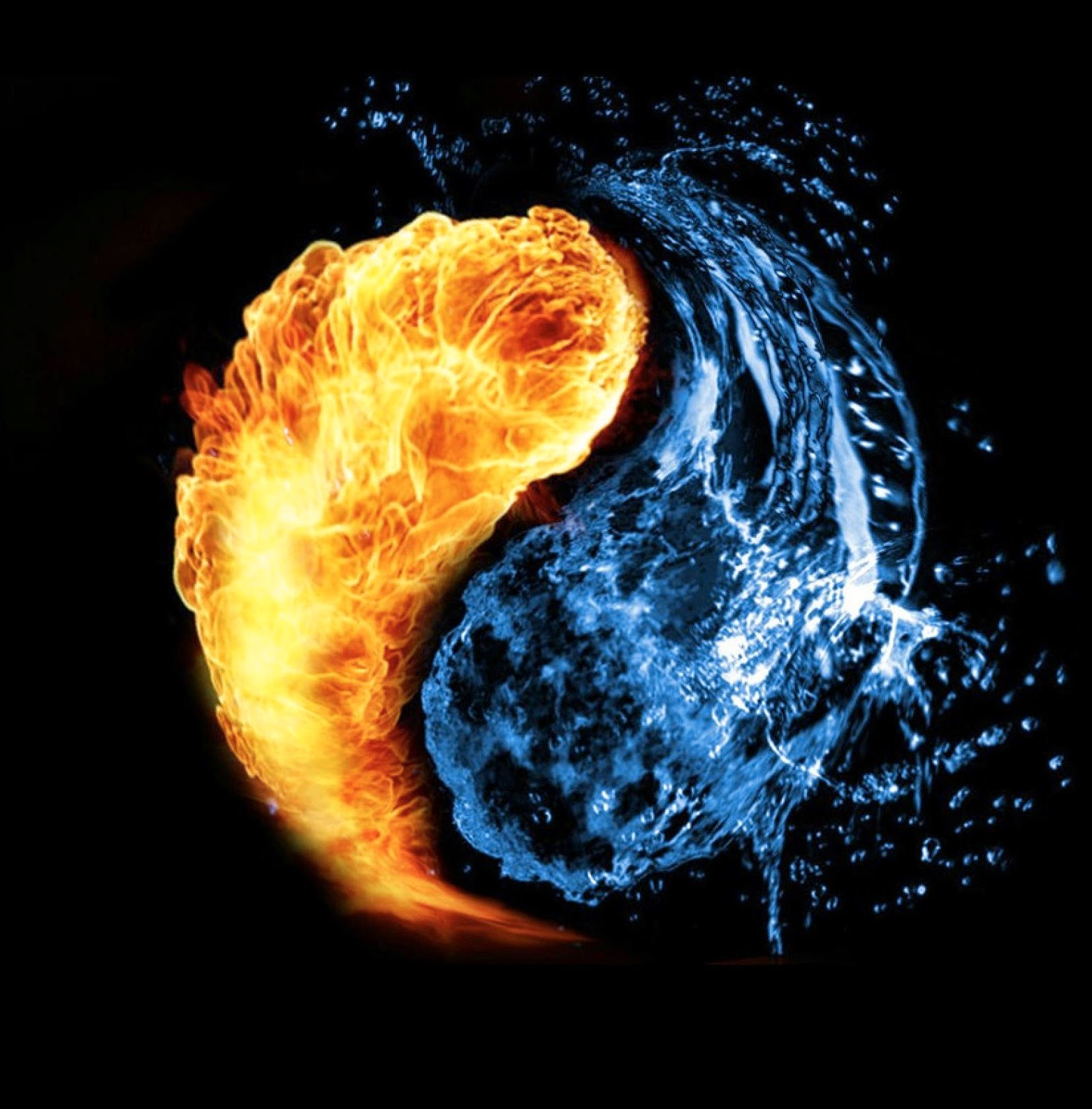 Wallpaper Illusion 3d Architalk Fire And Water