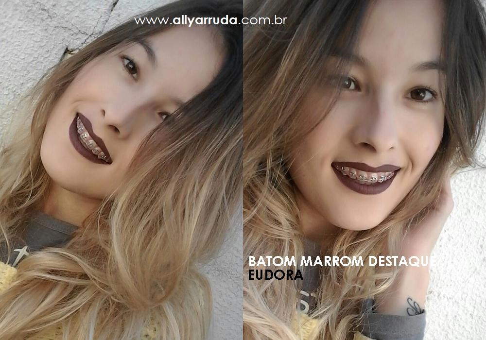 Batom marrom destaque Eudora Resenha - Blog Ally Arruda