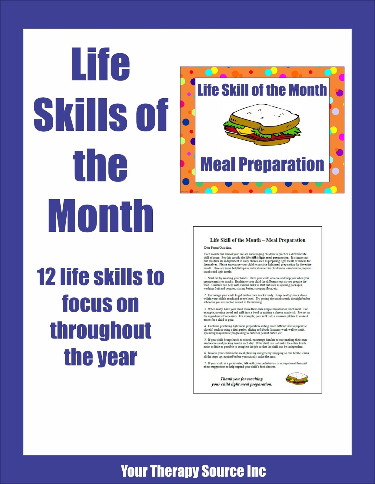 Life Skill Of The Month Your Therapy Source