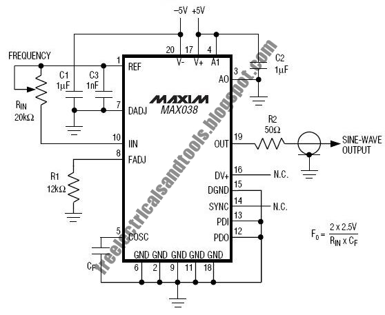 free schematic diagram  high frequency generator circuit