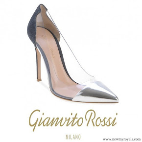 Queen Maxima wore Gianvito Rossi Plexi Pump