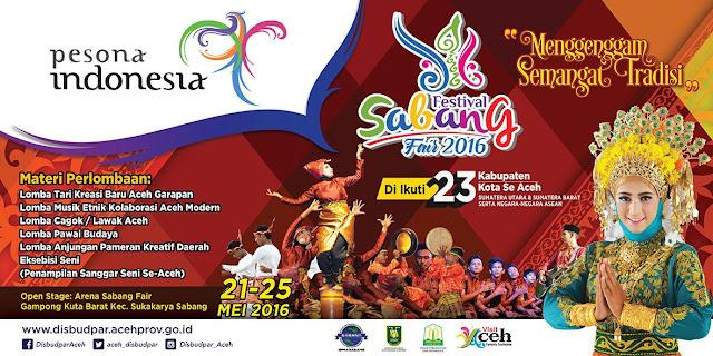 Festival Sabang Fair 2016 Event di Aceh bulan mei